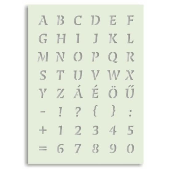 Betűk 1. nyomtatott nagybetűk - tartós sablon Arcfestés sablon