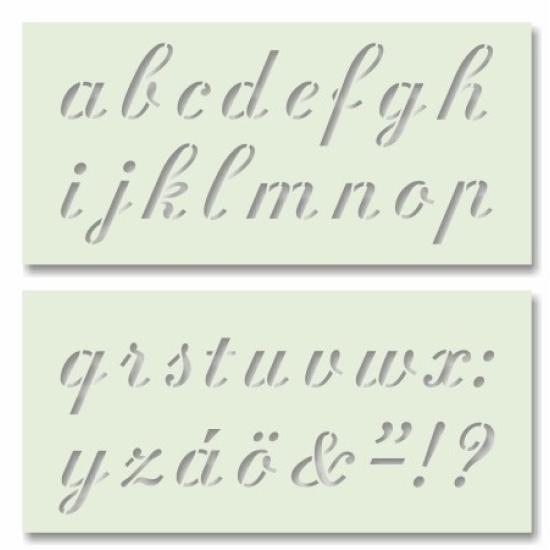 Betűk 2. írott kisbetűk - tartós sablon pár Arcfestés sablon