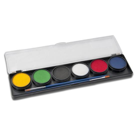 6 Alap színű arcfesték paletta - Diamond FX 6 Basic color face paints palette