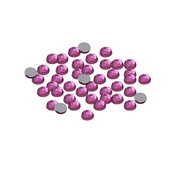 Rózsaszín strasszkő 2,5 mm, 50 db Strasszkő