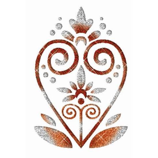Cifra szív csillám tetoválás sablon Óriás minták