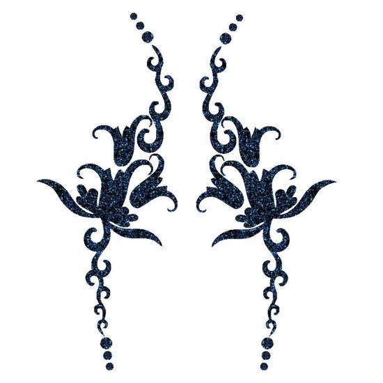 Harangvirág kézfej-festősablon pár Kézfej sablon párok