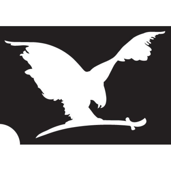 Turul madár 02 festősablon Jelképek