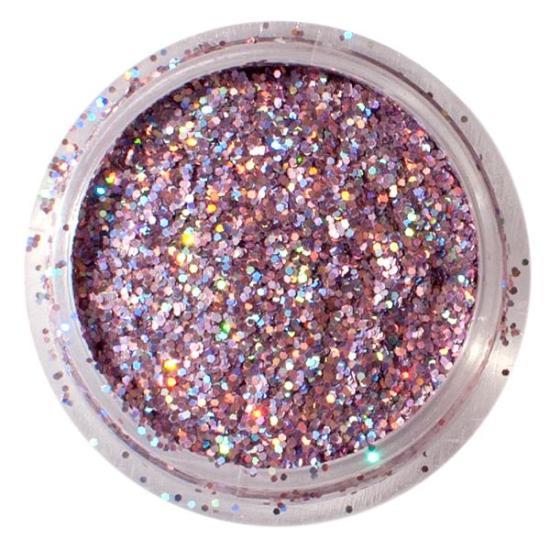 Rózsaszín csillámpor - Lézer Lilás-rózsaszín Nagy szemcseméret (0,5mm) csillámpor Hologramos csillámpor